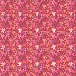 Hearts and Triangles, Small, Berry