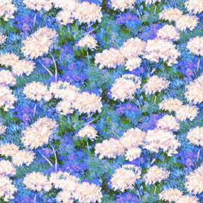 Painted Summer Snow Balls   Blue+Green+Violet+White