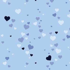 Splash hearts bay blue