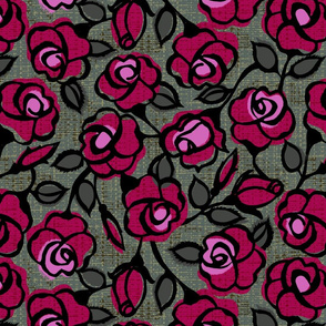 dark red roses- moody floral