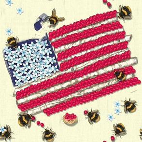 Widdle Bitty Bees-Patriotic Flag Bees//Cream
