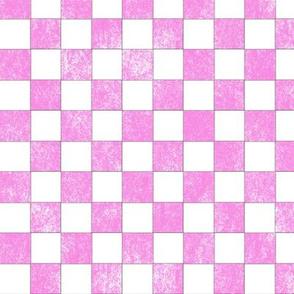 "Pink Check Grunge 1"""