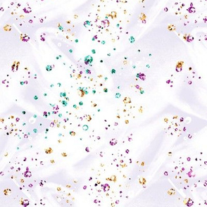 White Satin confetti glitter