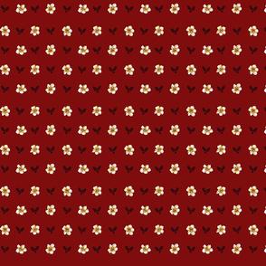 Waikiki Plumeria Dots-red