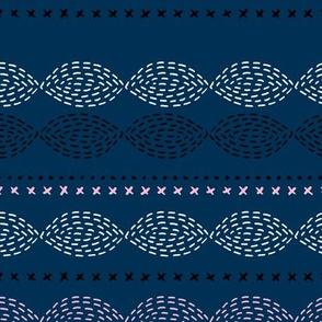 Minimal mudcloth bohemian mayan abstract indian summer aztec design winter navy blue pink