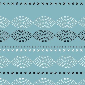 Minimal mudcloth bohemian mayan abstract indian summer aztec design winter blue