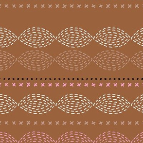 Minimal mudcloth bohemian mayan abstract indian summer aztec design summer fall copper pink