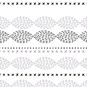 Minimal mudcloth bohemian mayan abstract indian summer aztec design summer lilac black and white