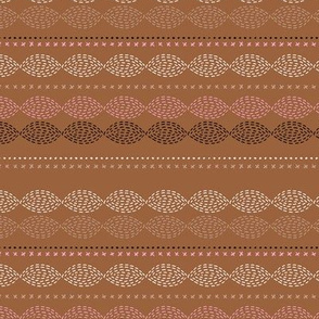 Minimal mudcloth bohemian mayan abstract indian summer aztec design summer fall copper pink SMALL