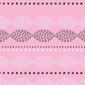 Minimal mudcloth bohemian mayan abstract indian summer aztec design pink baby girl