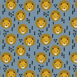 lion lions head lion kids nursery baby boy blue