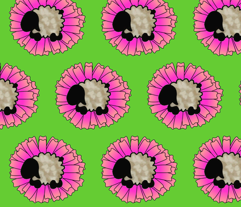 Bethsheepflower fabric by spunky_eclectic on Spoonflower - custom fabric