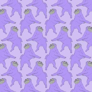Mod LCP dancing Pugs - Lavender