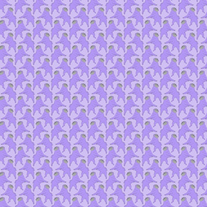 Small Mod LCP dancing Pugs - Lavender