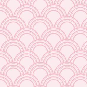 Art Deco Scallop, Pink