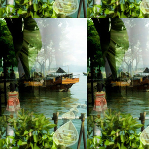 sititcher hong kong girl and boats