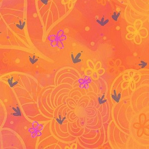 Happy Florals Orange