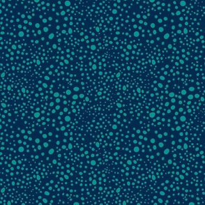 Pebbles - Navy with Teal