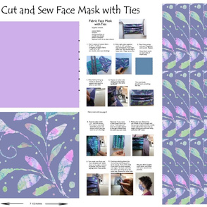 cut and sew fabric mask leaves