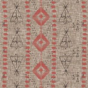 Tribal print teepee