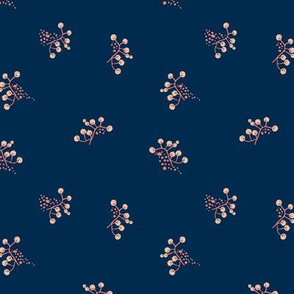 Berries - Navy with Coral and Blush