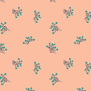 Berries - Blush with Teal and Navy