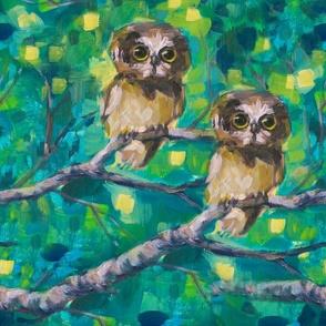 Woodland Owls - Large Pattern