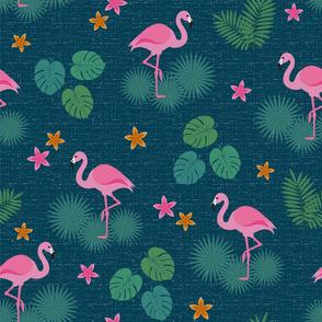 Bohemian nonchalance flamingo fabric pattern