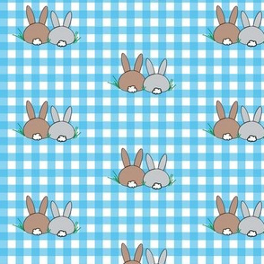 Bunny Blues Gingham