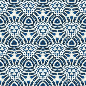 Vintage print blue