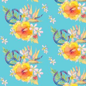 Summer Watercolor Peace Teal3