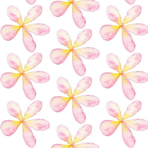 Summer Watercolor Floral Pink