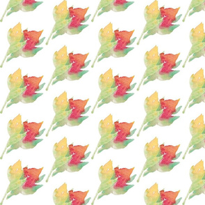 Summer Watercolor Floral Buds