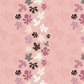 Fig Leaves in Pink and Grey