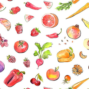 Eat the rainbow - healthy food large
