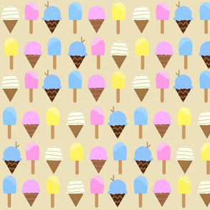 Popsicles and Ice Cream Cones