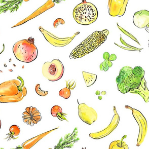 Rainbow color boost - fruit and veggies small food