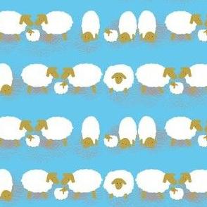 Schafe blau