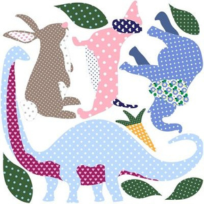 Applique Animals! Cut and Sew Dino Bunny Rabbit Dachshund Dog Elephant