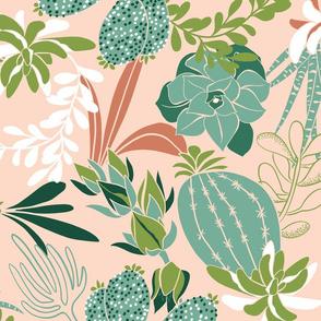 Succulent Garden - Desert Blush Pink Jumbo Scale