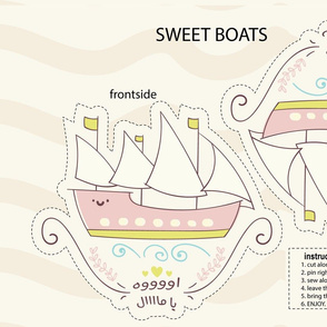 cut and sew pink boats