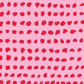 Minimal raw brush dots in a row abstract squares scandinadian summer girls pink red
