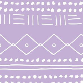 Minimal mudcloth bohemian mayan abstract indian summer love aztec design dusty lilac JUMBO