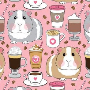 guinea-pigs-and-coffee beans on pink