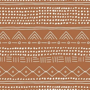 Minimal mudcloth bohemian mayan abstract indian summer love aztec design copper brown