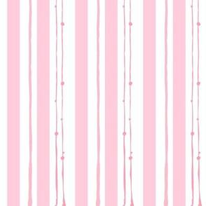 pink stripe doodles - vertical