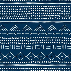 Minimal mudcloth bohemian mayan abstract indian summer love aztec design navy blue