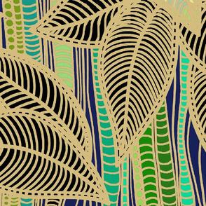 Foliage - Golden Bamboo Foliage - Large Scale