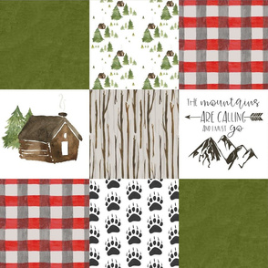 Cabin in the woods - Wholecloth Cheater Quilt