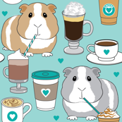 guinea-pigs-sipping coffee teal